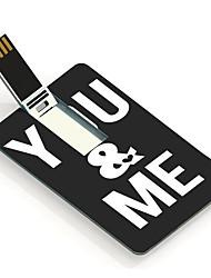 16gb você&me projetar unidade flash USB cartão