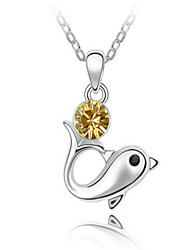 Lucky Star Woman Should Have Noble Temperament Flawless Dolphin Crystal Necklace (More Colors)