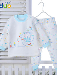 Ajiduo Toddler Baby Boys Girls Cute Clothing Infant Cartoon Pure Cotton Clothing Sets