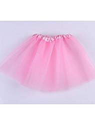 Girl's Summer Micro-elastic Sheer Sleeveless Skirts (Cotton)