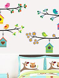Cartoon Birds House PVC Wall Stickers Wall Art Decals