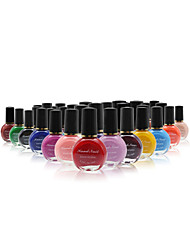 Professional Printing/Stamping Nail Polish(10ml,No1-26 Assorted Colors)