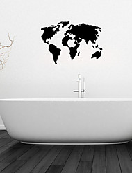 Wall Stickers Wall Decals, Map Bathroom Decor Mural PVC Wall Stickers