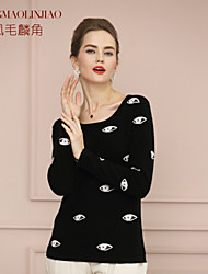 Women's Casual/Party Micro-elastic Medium Long Sleeve Cashmere (Cashmere)