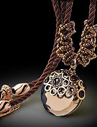 Vintage/Cute/Party Cubic Zirconia Pendant Necklace