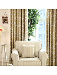 Country Curtains® One Panel Beige Kapok Floral Blackout Curtain Drape