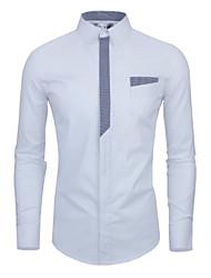 Manlodi Men's Long Sleeve Casual Shirts (Cotton)