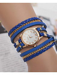 Women's Watches Marble Mirror Diamond Ladies Bracelet Watch Hand Woven Three Winding Watch Cool Watches Unique Watches