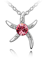 Lucky Star Woman Should Have Noble Temperament Flawless Starfish Crystal Necklace (More Colors)