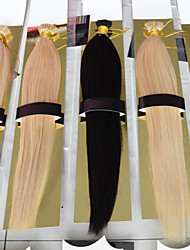 "100pcs 12""-26"" I Tip Hair Extensions Brazilian Virgin Human Hair Extensions 1g/s Prebonded Hair Extension 001"