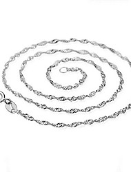 KIKI 925 Sterling Silver Chain retro wave