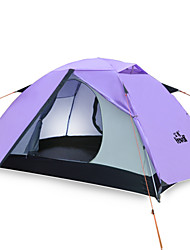 Hewolf Moistureproof Waterproof Polyester One Room Tent 1595 Green/Red/Dark Purple