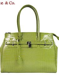 Women PVC Casual Tote Green