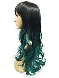 1pc + zwei Klangfarben besten neuen Dameperücke Mode geschweiften synthetische Haarperücken Kappen haare hairdo