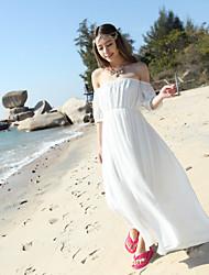 Women's Low- cut Design Sexy Holiday Beach Dress+1503