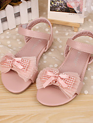 Girls' Shoes Dress Flat Heel Comfort Peep Toe Leather Sandals More Colors available