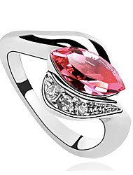 Ring Adjustable Party Jewelry Alloy / Rhinestone Women Statement Rings 1pc,One Size Orange / Pink