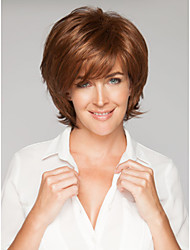 Popular Beautiful  Brown Syntheic  Wigs  Sale To Europe And America