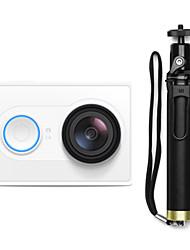 Xiaomi xiaoyi CMOS 16MP 1080p esportes câmera / monopé / wi-fi / bluetooth 4.0 - branco (kit de viagem)