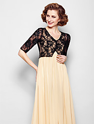 Women's Wrap Shrugs Half-Sleeve Lace Black Wedding / Party/Evening V-neck 39cm Lace Clasp