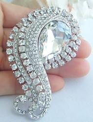 Wedding Accessories Silver-tone Clear Rhinestone Crystal Bridal Brooch Wedding Bouquet Bridal Deco Flower Wedding Brooch