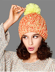 Kenmont Women Lady Winter Cute Classic Contrasting Hat Removable Ball Knitted Cap 1611