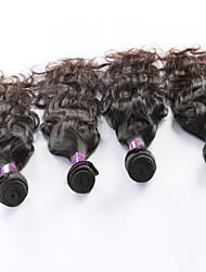 """4 Pcs/Lot 8""""-26"""" Malaysian Virgin Hair Natural Black Natural Curve hair Weft Direct Manufacturer"""