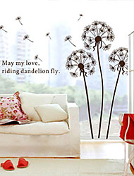 Large Dandelion In The Wind Children's Room Removable Decorative Wall Stickers