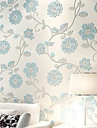 Blumen Tapete Landhaus Stil Wandverkleidung,Nicht-gewebtes Papier ja