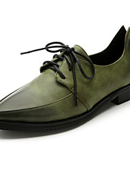 Women's Shoes  Low Heel Comfort/Pointed Toe/Closed Toe Oxfords Casual Black/Brown/Green