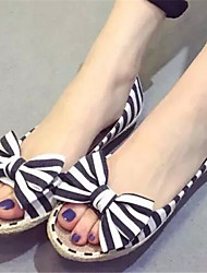 Women's Shoes Flat Heel Open Toe Sandals Dress Black/Blue/Red