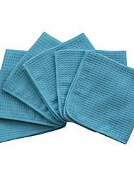 SINLAND tejido gofre microfibra exfoliar paño facial paños de limpieza facial 12inchx12inch 6-pack