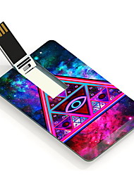 16GB Night Sky Triangle Design Pattern Card USB Flash Drive