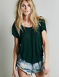 Milan vrouwenwerk round korte mouw topjes& blouses (katoen)