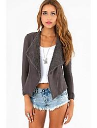 Women's Casual Thick Sleeveless Regular Jackets (Cotton)