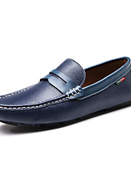 Men's Shoes Wedding/Office & Career/Party & Evening Leather Loafers Black/Blue/Brown