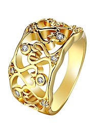Fashion Europe and America Diamante  Geometric Graph Multicolor Gold-Plated Statement Rings(Golden,Rose Gold)(1Pcs)