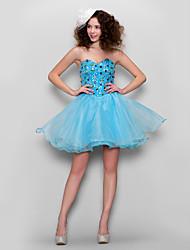 Dress - Pool A-line Sweetheart Short/Mini Tulle