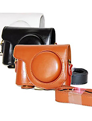 dengpin pu olio pelle di cuoio del sacchetto di caso della copertura della fotocamera staccabile per CASIO EX-zr3500 (colori assortiti)
