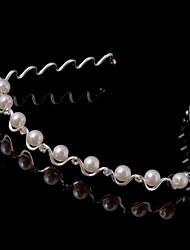 Women Alloy Headbands With Imitation Pearl Wedding/Party Headpiece