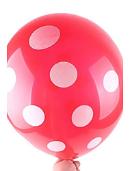 12 inch Latex Polka Dot Balloon for Wedding Birthday Party(set of 12)