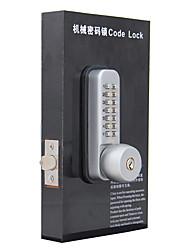 tous les temps poussoir mécanique serrure de la porte avec les clés, os37b tache de nickel