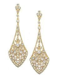 Damen Ohrring Silber/Legierung Kristall Drop Earrings