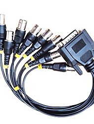 DB 15-Pin Male Break Out To 8 BNC Female Cable Connectors for CCTV System