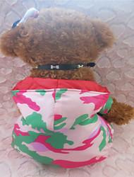Pulls à capuche-Chien-Hiver-Vert / Rose camouflage- enMatériel mixte