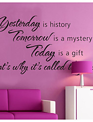 Yesterday Is History Home Decoration Wall Decals Zooyoo8138 Decorative Removable Vinyl Wall Stickers