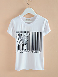 Kid's Casual/Print Tops & T-Shirts (Cotton Blend/Elastic)