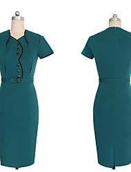 Women's Vintage/Sexy/Cute/Party/Work Dress (Cotton Blends)