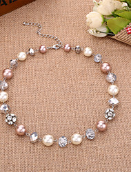 Jewelry Strands Necklaces Wedding / Party / Daily Alloy / Rhinestone 1pc Women Wedding Gifts