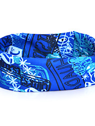 HLY-P836 Stamp Pattern Outdoor Multifunctional Seamless Headscarf - Sky Blue